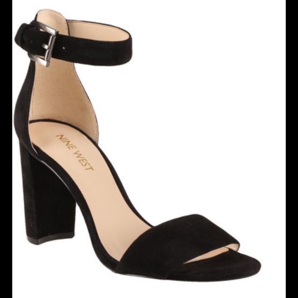 amazing selection cheap for sale newest collection Nine West Nora Black Suede Heels 6